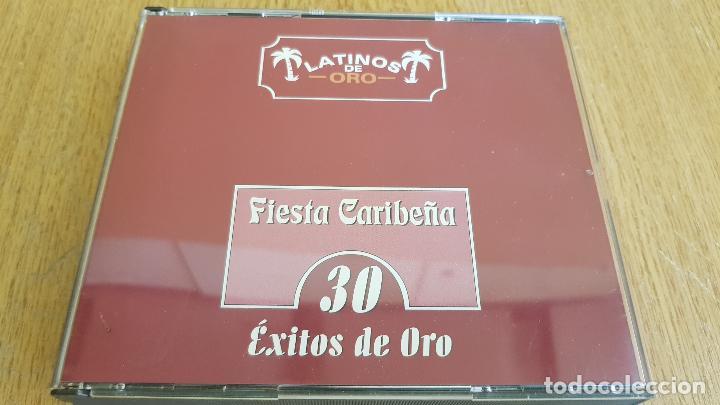 LATINOS DE ORO / FIESTA CARIBEÑA / 30 ÉXITOS DE ORO / BOX-SET 2 CDS / CALIDAD LUJO. (Música - CD's Latina)