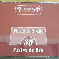 CDs de Música: LATINOS DE ORO / FIESTA CARIBEÑA / 30 ÉXITOS DE ORO / BOX-SET 2 CDS / CALIDAD LUJO.. Lote 124904347