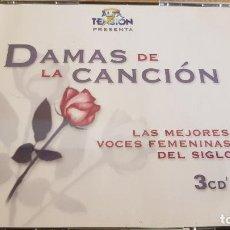 CDs de Música: DAMAS DE LA CANCIÓN / LAS MEJORES VOCES FEMENINAS / BOX-SET 3 CDS / DE LUJO. 54 TEMAS.. Lote 124906235