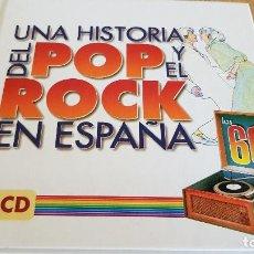 CDs de Música: UNA HISTORIA DEL POP Y EL ROCK EN ESPAÑA / LOS 60 / LIBRO + 2 CDS / DE LUJO / 40 TEMAS.. Lote 124914127