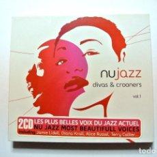 CDs de Música: NU JAZZ DIVA & CROONERS VOL. 1 , (2 CD) , 2007, NUEVO Y PRECINTADO, WAGRAM 3123452 ,3596971234522. Lote 125082395