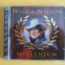 CDs de Música: WILLIE NELSON - MILLENIUM COLLECTION DOBLE CD MUSICA. Lote 125100479