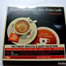 CDs de Música: CD SAÍNT-GERMAIN DES-PRÉS CAFÉ VOLUMEN XI , 2 CD'S , WAGRAM 2009, NUEVO Y PRECINTADO, 3596972088421. Lote 125125963