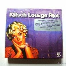 CDs de Música: KITSCH LOUNGE RIOT , 3 CDS , 2003 , NUEVO Y PRECINTADO. Lote 125128187