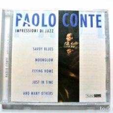 CDs de Música: CD PAOLO CONTE IMPRESSIONI DI JAZZ, MEMBRAN MUSIC, 2004, NUEVO Y PRECINTADO, 4011222209955. Lote 125145187