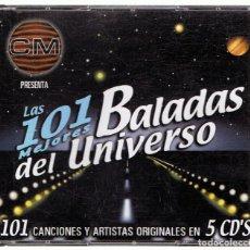 CDs de Música: LAS 101 MEJORES BALADAS DEL UNIVERSO ( 5 CD). Lote 125145439