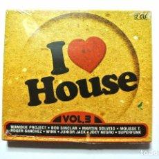 CDs de Música: CD I LOVE HOUSE VOL.3 , COMPILATION 2 CD'S, BLANCO Y NEGRO, 2006 , NUEVO Y PRECINTADO, 8421597048206. Lote 125146543