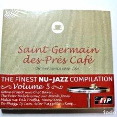CDs de Música: CD SAINT-GERMAÍN DES-PRES CAFÉ VOL.5 NU-JAZZ COMPILATION, NUEVO Y PRECINTADO, 3596971104221. Lote 125148299