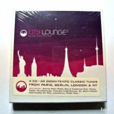 CDs de Música: CD CITY LOUNGE 2 , 4CD'S, WAGRAM, 2006, NUEVO Y PRECINTADO, 3596971141226 ,WAG 347. Lote 125149239