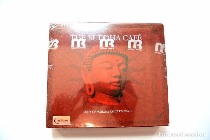 CD THE BUDDHA CAFÉ , COMPILATION 3 CD'S ,BAR DE LUNE, DYNAMIC 2005 , NUEVO Y PRECINTADO 876492003627 (Música - CD's New age)