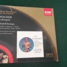 CDs de Música: WAGNER LOHENGRID RUDOLF KEMPE 3 CD + LIBRETO. Lote 125193927