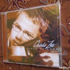CDs de Música: CHARLIE ZAA- CD- TITULO CIEGO DE AMOR-CON 10 TEMAS- ESTILO BOLEROS- DEL 2000- PLASTIFICADO . Lote 125219815