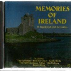 CDs de Música: CD MEMORIES OF IRELAND ( THE DUBLINERS, PADDY REILLY, THE FUREYS & DAVEY ARTHUR, ETC ). Lote 179957320