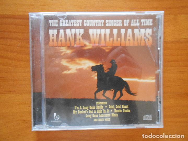 CD HANK WILLIAMS - THE GREATEST COUNTRY SINGER OF ALL TIME (8P) (Música - CD's Country y Folk)