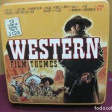 CDs de Música: WESTERN FILM THEMES. 60 TEMAS EN 3 CD'S. CAJA DE METAL.. Lote 125398363