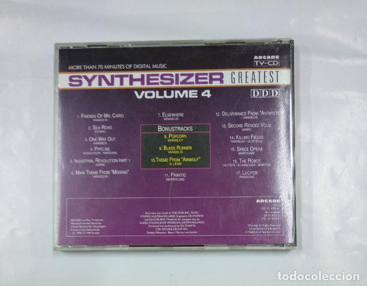 CDs de Música: SYNTHESIZER GREATEST VOLUMEN 4 VOL. - CD. TDKV18 - Foto 3 - 125739831