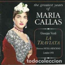 CDs de Música: MARIA CALLAS TRAVIATA. Lote 125974643
