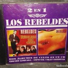 CDs de Música: LOS REBELDES REBELDES CON CAUSA / LA ROSA Y LA CRUZ 2 EN 1 ROCKABILLY. Lote 126378063