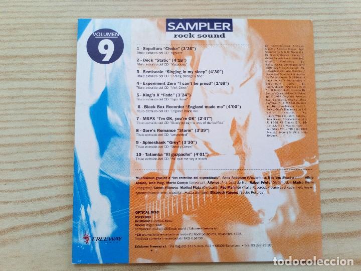 CDs de Música: CD Rock Sound - Volumen 9 - Foto 2 - 126381655