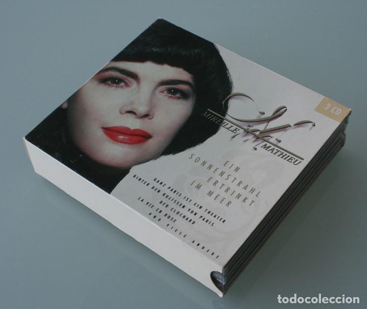 SET 3 CD MIREILLE MATHIEU: EIN SONNENSTRAHL ERTRINKT IM MEER VER TITULOS TEMAS EN FOTOGRAFIA (Música - CD's Melódica )