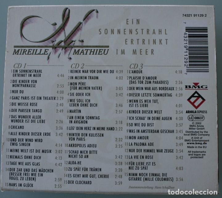 CDs de Música: SET 3 CD MIREILLE MATHIEU: EIN SONNENSTRAHL ERTRINKT IM MEER VER TITULOS TEMAS EN FOTOGRAFIA - Foto 2 - 126479211