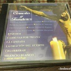 CDs de Música: CD BANDAS DE CORNETAS Y TAMBORES - SEMANA SANTA DE SEVILLA. Lote 126647063