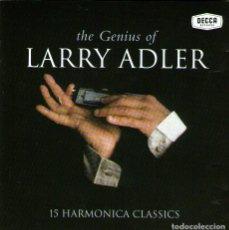 CDs de Música: THE GENIUS OF LARRY ADLER (CONCIERTO DE ARMÓNICA Y ORQUESTA) - CD ALBUM - 15 TRACKS - DECCA 1999. Lote 126820299