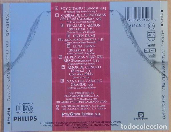 CDs de Música: Camarón De La Isla con The Royal Philharmonic Orchestra ?– Soy Gitano (ed.: España, 1999) - Foto 2 - 126827871