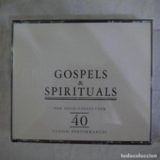 CDs de Música: GOSPELS & SPIRITUALS - THE GOLD COLLECTION 40 CLASSIC PERFORMANCES - 2 CDS . Lote 126914339