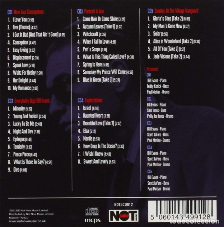 CDs de Música: BILL EVANS * BOX SET 5 CD * The Riverside Years * CAJA PRECINTADA - Foto 13 - 127438295