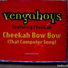 CDs de Música: VENGABOYS ?– CHEEKAH BOW BOW (THAT COMPUTER SONG) - CD PROMOCIONAL CON 3 TEMAS - BREAKIN. Lote 127439079