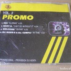 CDs de Música: VARIOS - PROMO VOL 2 - CD PROMOCIONAL CON 4 TEMAS - DJ´S AT WORK. Lote 127441415