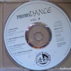 CDs de Música: VARIOS - PROMO DANCE VOL 4 - CD PROMOCIONAL CON 4 TEMAS - BLANCO Y NEGRO. Lote 127441535