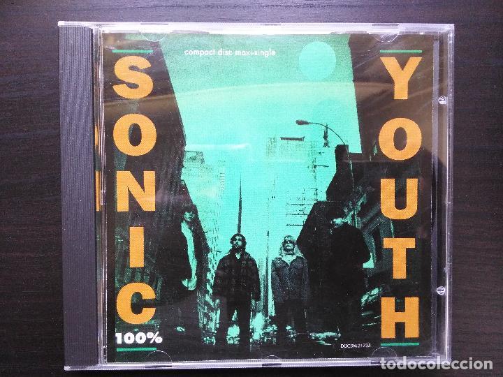 SONIC YOUTH-100% (CD SINGLE. DGC.1992) DIRTY. 3 TEMAS INEDITOS. BUTCH VIG (NIRVANA) (Música - CD's Rock)