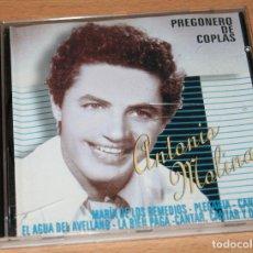 CDs de Música: ANTONIO MOLINA.CD.PREGONERO DE COPLAS.HELIX.2000.COPLAS.CANCION ESPAÑOLA.FLAMENCO.RECOPILATORIO. Lote 128554503