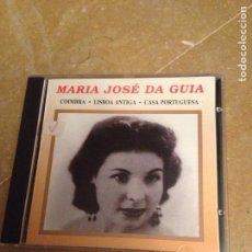 CDs de Música: MARIA JOSÉ DA GUIA. UMA GRANDE ARTISTA DOS ANOS 50. COIMBRA, LISBOA ANTIGA, CASA PORTUGUESA (CD). Lote 127596682