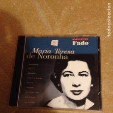 CDs de Música: BIOGRAFIAS DO FADO. MARÍA TERESA DE NORONHA (CD). Lote 127598759