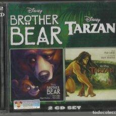 CDs de Música: BROTHER BEAR - TARZAN 2 CD EN 1 WALT DISNEY 2003 PRECINTADO. Lote 127653495