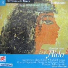 CDs de Música: AIDA (SELECCIÓN) CALLAS, RICHARD TUCKER, FEDORA BARBIERI, TITO GOBBI. CD. Lote 127780851