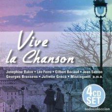 CDs de Música: VIVE LA CHANSON * 4CD * CAJA ESPECIAL * REMASTERED * PRECINTADO. Lote 127799807