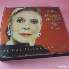 CDs de Música: CDS(TRIPLE)-MARÍA DOLORES PRADERA-ESENCIA DE MUJER-55 TEMAS-DUETOS-BMG-2000. Lote 127976059