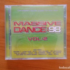 CDs de Música: CD MASSIVE DANCE 98 VOL. 2 (2 CD'S) (1Y). Lote 128012867