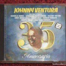 CDs de Música: JOHNNY VENTURA (35 ANIVERSARIO CON SUS INVITADOS) CD 1992 - CELIA CRUZ, MANZANERO, DANIELA ROMO.... Lote 128052315