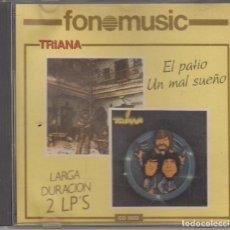 CDs de Música: TRIANA CD EL PATIO / UN MAL SUEÑO 1988 FONOMUSIC. Lote 128055235