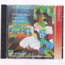 CDs de Música: ASTOR PIAZZOLLA - COMPLETE WORKS WITH GUITAR (CD 2008, ARTS MUSIC 47559-2) PRECINTADO . Lote 128083071