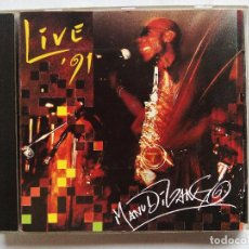 CDs de Música: MANU DIBANGO. LIVE 91. CD SOUL PARIS 662021 WN 334. FRANCE 1991. SOUL-JAZZ. AFRO JAZZ.. Lote 128138427