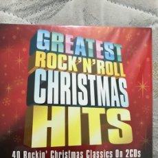CDs de Música: GREATEST ROCK'N'ROLL CHRISTMAS HITS 2CDS PRECINTADO. Lote 128167558