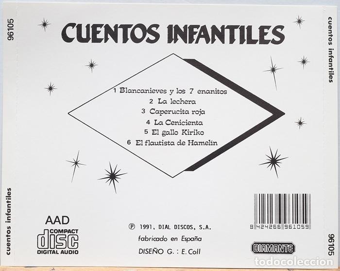 CDs de Música: Cuentos Infantiles / Blancanieves-La lechera-Caperucita Roja-La Cenicienta-El Gallo Kiriko - Foto 2 - 128319627