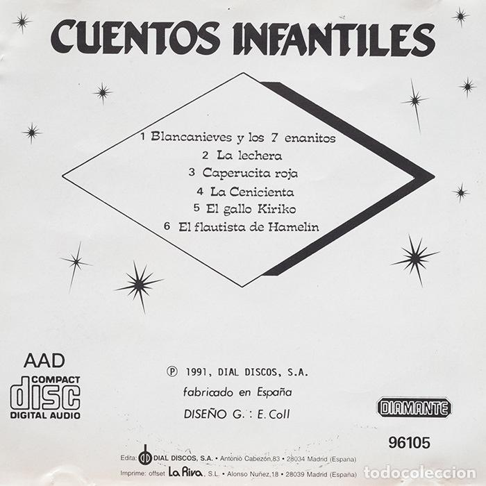 CDs de Música: Cuentos Infantiles / Blancanieves-La lechera-Caperucita Roja-La Cenicienta-El Gallo Kiriko - Foto 3 - 128319627