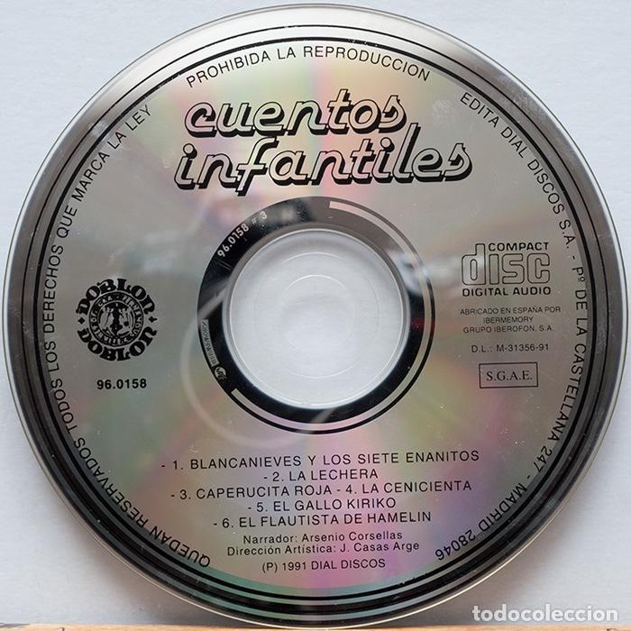CDs de Música: Cuentos Infantiles / Blancanieves-La lechera-Caperucita Roja-La Cenicienta-El Gallo Kiriko - Foto 4 - 128319627